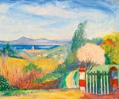 Charles CAMOIN Le portail vert Saint-Tropez 1921 #Var #Provence-Alpes-Côte-d'Azur #Saint-Tropez