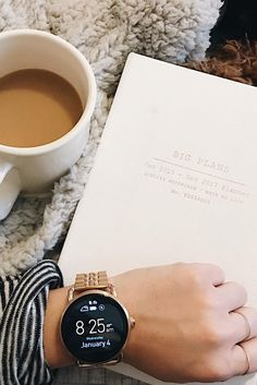 New year, new set of goals. The Q Wander rose gold smartwatch makes goal tracking easy. via @ haileyloraew