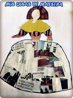 *MIS COSAS DE MAESTRA*: Manualidad: LA MENINA Kids Collage, Jr Art, Kids Inspire, Baroque Art, Newspaper Crafts, Collage Illustration, Chef D Oeuvre, Art Lessons Elementary, Summer Art