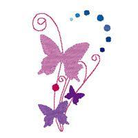 Papillons - 4 fichiers Pes