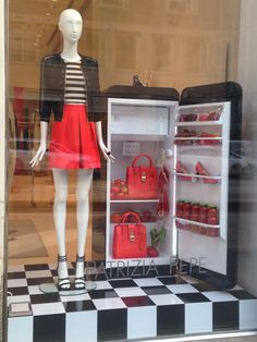 Patrizia Pepe italian colors food ...so fresh so fashion! - Milan fashion windows