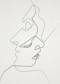 minimalist line drawing