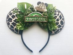 Disney Cheetah Print Jungle Cruise Inspired Mickey Ears - Disney Cheetah Print Jungle Cruise Inspired Mickey Ears Best Picture For healthy recipes For Your - Walt Disney, Disney Diy, Disney Cute, Diy Disney Ears, Disney Mouse Ears, Disney Mickey Ears, Disney Style, Disney Trips, Disney Babies