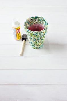 #Wedding #flowers #DIY tutorial: http://www.weddingandweddingflowers.co.uk/article/1163/wedding-flowers-diy-liberty-print-flower-pots #Liberty