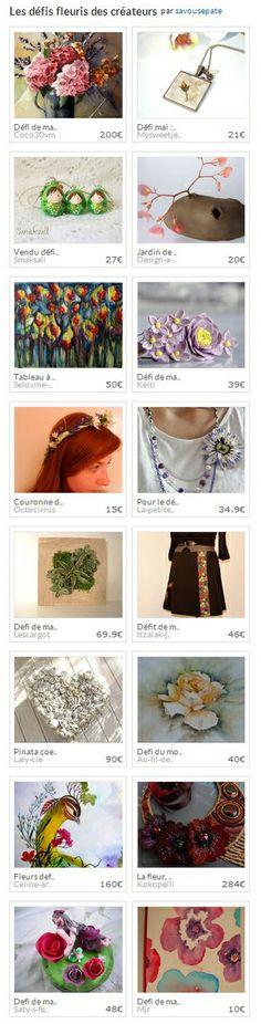 Les défis fleuris des créateurs par savousepate. http://www.alittlemarket.com/collection/les_defis_fleuris_des_createurs-297853.html