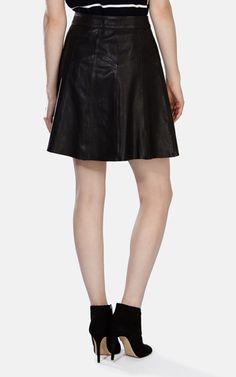 Soft Leather Full Skirt