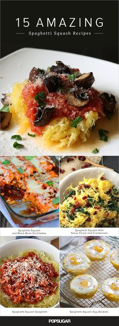 Everyone loves pasta, but sometimes it's fun to mix things up a bit by swapping classic noodles for strands of supple, nutty spaghetti squash. These recipe ideas don't just stop there; keep reading for takes on this Fall favorite spanning from spaghetti squash enchiladas to a spin on latkes.