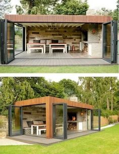 How to Build a DIY Covered Patio Beautiful idea for your backyard! How to build.How to Build a DIY Covered Patio Beautiful idea for your backyard! How to build a DIY covered patio Backyard Storage Sheds, Backyard Sheds, Backyard Pergola, Shed Storage, Backyard Landscaping, Landscaping Design, Outdoor Pergola, Small Pergola, Backyard Studio