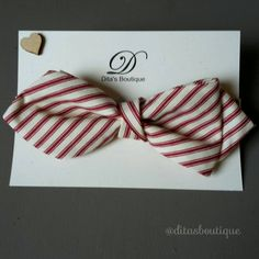 Striped bow tie. Boaters bow tie. College bowtie. by ditasboutique