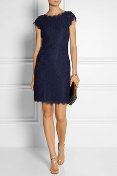 Diane von Furstenberg | Barbara lace dress | NET-A-PORTER.COM