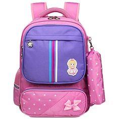 d1ce9ba848fb2 Tclothing Schön Schulrucksack Wasserdicht Daypack Praktisch Backpack Große  Kapazität Schultasche Mädchen Cityrucksack Niedlich Rucksack mit Mäppchen