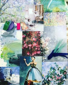 Designers Guild Couture Rose Spring Summer 2016 inspiration mood board. Come see…