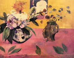 Paul Gauguin. Still Life with Japanese Woodcut, 1889