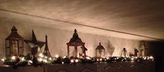 lanterns above the kitchen cabinets