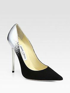 Jimmy Choo Anouk Suede & Metallic Leather Degrade Pumps - at Saks  $750  I want this!!!