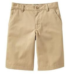 He won't be short on style with these Boys Plain-Front Uniform Shorts for just $10, plus get 2 SB for every dollar spent (more that 2%) just in time for Back to School at Old Navy Canada.