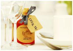 Handmade Sloe Gin Wedding Favour