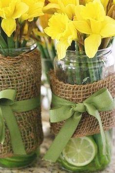 barn dance jar centerpieces   flowers, wedding decor, rustic country chic wedding flower centerpiece ...