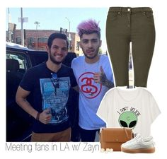 """""""Meeting fans in LA with Zayn. (Happy Valentine's day)"""" by mela-horlik ❤ liked on Polyvore featuring Topshop, Tory Burch, Puma, women's clothing, women, female, woman, misses and juniors"""