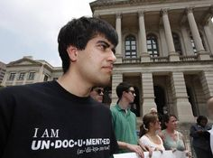 On June, 2011, Immigration activist Mohammad Abdollahi stands outside the Capitol building in Atlanta during a press conference where it was announced that several civil liberty groups had filed lawsuits challenging Georgia's new immigration law.
