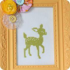 cross stitch deer