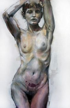 """Nude 1"" - Acrylic on canvas - 90cm x 60cm - Benjamin García"