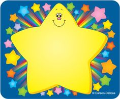 Carson Dellosa Publishing Company Name Tags, Rainbow Star, Category: Name Badges and Badge Labels