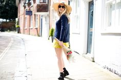J Crew Sweater / ASOS skirt / Celine Nano / Panama Hat / Flowers - Mediamarmalade #ootd fashion blog outfit inspiration