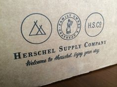 logo family - Herschel Supply Company packaging
