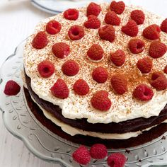 Gluten free Chocolate and raspberry gateau recipe. For the full recipe and more click the picture or visit RedOnline.co.uk
