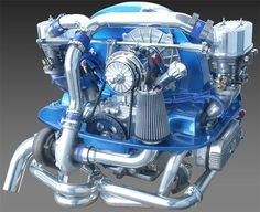 Turnkey Engines, custom built by Pat Downs of CB Performance Vw Super Beetle, Beetle Car, Vw Beach, Beach Buggy, Fusca Motor Ap, Vw Turbo, Jetta Vw, Vw Rat Rod, Vw Dune Buggy