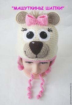 """Шапка """"Карамелька"""" - шапка мишка,мишка,зверошапка,шапка,шапка вязаная"""