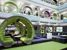 BBC North Atrium Pods by ID:SR/ Sheppard Robson.