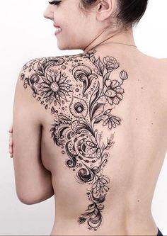 Half back tattoo charts tattoos, wing tattoo designs и flora Back Of Shoulder Tattoo, Shoulder Tattoos For Women, Back Tattoo Women, Paisley Shoulder Tattoos, Body Art Tattoos, Girl Tattoos, Hand Tattoos, Tatoos, Floral Back Tattoos