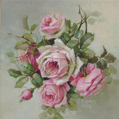 Shabby Rose Boutique: We now carry Christie Repasy canvas prints! Art Floral, Deco Floral, Floral Prints, Vintage Rosen, Decoupage, Romantic Roses, Illustration, Rose Art, Canvas Prints