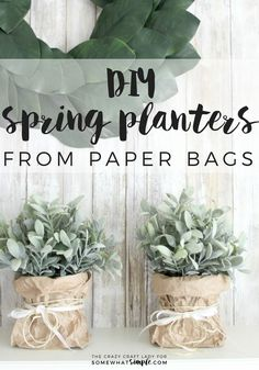 Follow this tutorial to learn how to make super simple spring paper bag planters. This tutorial is perfect for spring flowers, bulbs and plants!