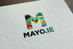 ie logo by Designwest. Brand Identity Design, Logo Design, Logo Branding, Logos, Website, Ireland, Symbols, Creative, Logo