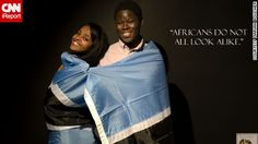 a group of U.S.-based African students has launched a photo campaign in a bid to dispel misconceptions about their continent.