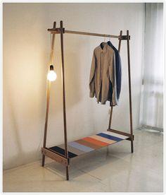 clothing rolling rack storage DIY    http://camillestyles.com/life-2/transformed-racks-on-racks/