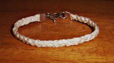 White Embroidery Triple Braid Bracelet With by BraceletsByJen, $5.00