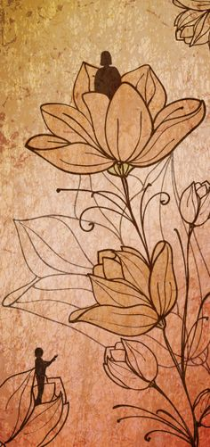 Royalty-free Illustration: Illustration of people with flowers