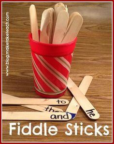 LOVE this activity for practicing sight words! Or to practice letters, numbers, colors, shapes...