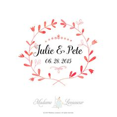 Premade Wedding Monogram Save The Date By Madameleveur Logo Design Logos