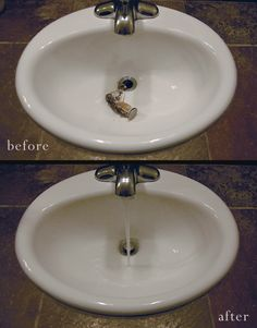 1000 ideas about unclog bathroom sinks on pinterest - Clogged kitchen sink without garbage disposal ...