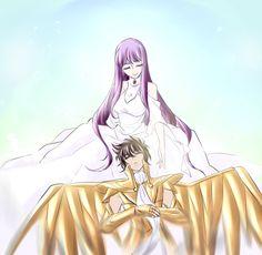 Saori y Seiya de Sagitario 4.