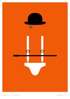 Clever Posters of Classic Horror Films - A Clockwork Orange - My Modern Metropolis