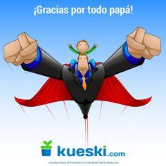 Gracias a todos aquellos papás superhéroes por todo lo que hacen por nosotros. ¡#FelizDíaDelPadre! #Papá #DíaDelPadre #Kueski