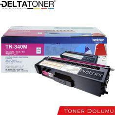 Brother TN-340M Toner Dolumu Kırmızı