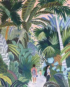Les illustrations de Ohkii studio – Peeksee – Magazine d'inspirations positives Art And Illustration, Editorial Illustration, Collage Nature, Collage Art, Mandala Design, Jungle Art, Guache, Botanical Art, Painting Inspiration