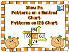 Pumpkin Show Me Patterns on a Hundred Chart Common Core Style 2nd Grade Activities, Fun Fall Activities, 1st Grade Math, Second Grade, Math Classroom, Future Classroom, Maths, Pumpkin Show, Math Resources